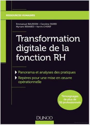 Couverture de l'ouvrage : transformation digitale de la fonction RH - Dunod 2019