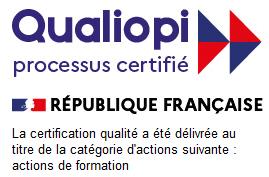 Logo Qualiopi et action certifiée