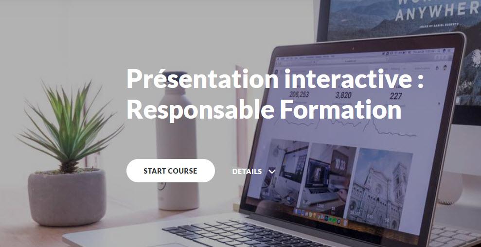bouton d'accès à la présentation responsable formation